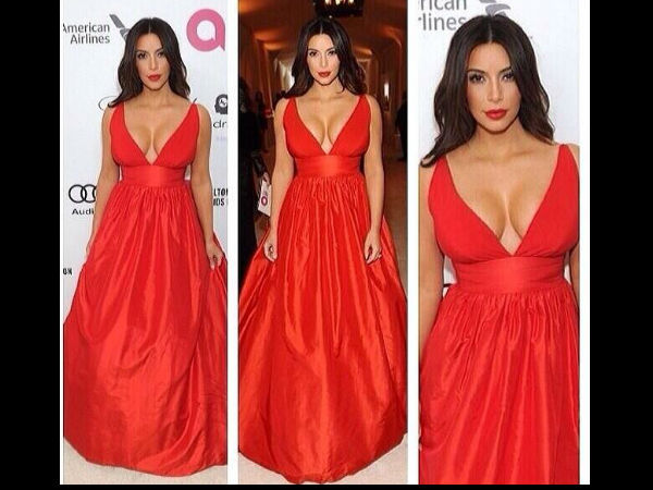 Kim Kardashian At Elton John Oscars 2014 Party