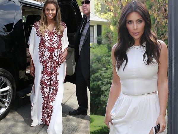 Kim Kardashian In White | Ciara Baby Shower | Vogue Cover