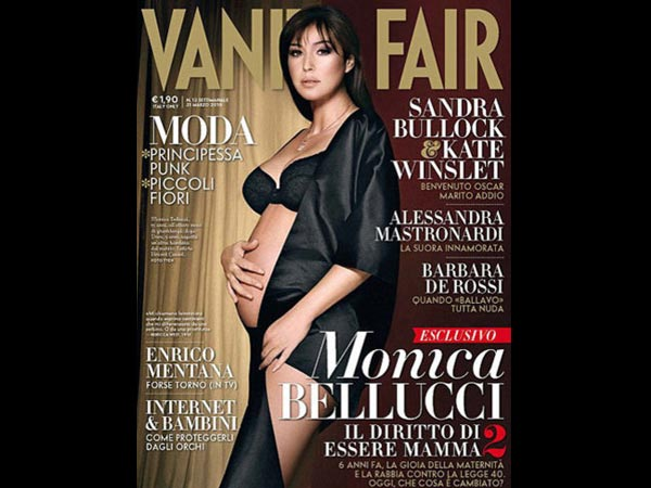 Pregnant celebrity magazine covers