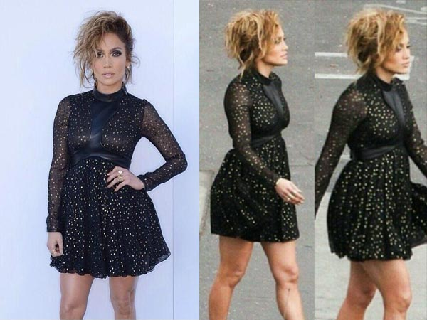 J-lo black dress images
