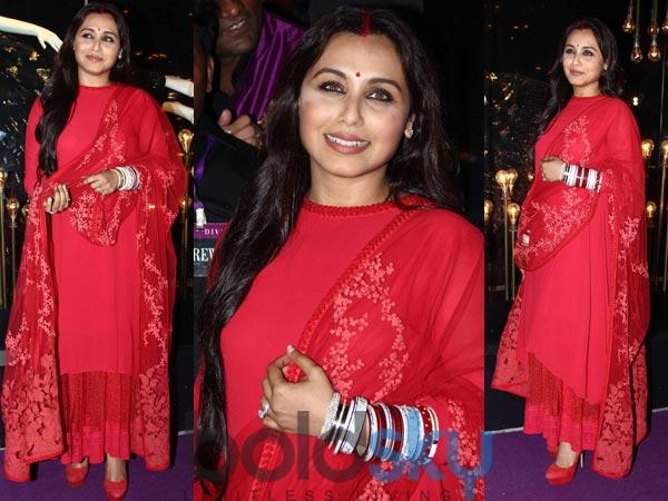 Rani Mukherjee In Red Sabyasachi Suit