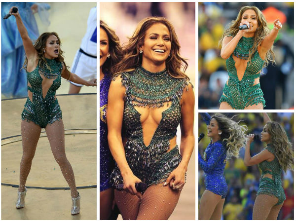 Jennifer Lopez In Leotard At FIFA 2014 Opening Ceremony