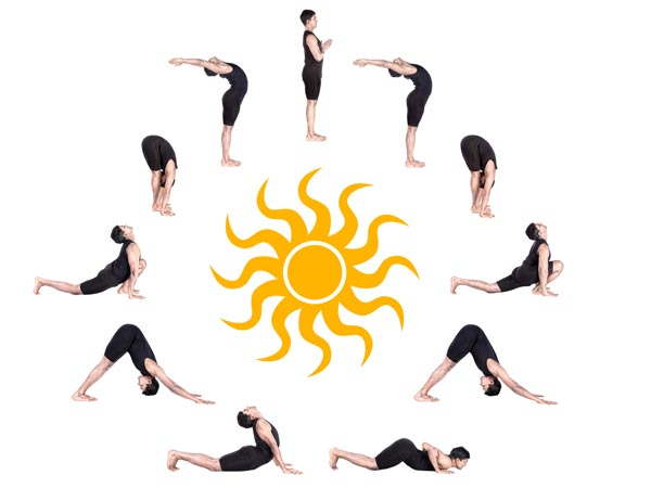 12 poses of the surya namaskar