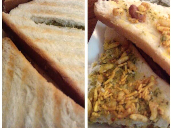 Bhel Puri Sandwich Recipe