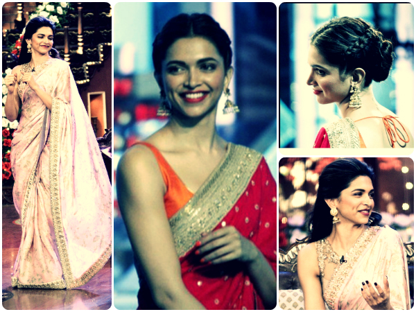 Deepika Wows In Two Sarees - Boldsky.com