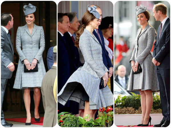 OOPS: Pregnant Kate Middleton Dress Flies Up Again ...
