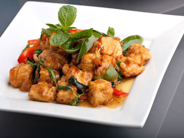 ... you can prepare the delightful spicy Thai chicken with basil at home