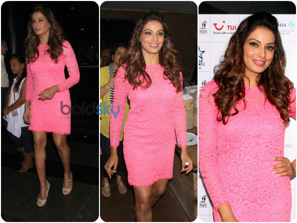 Bipasha Basu Blushes In Pink Lace Boldskycom