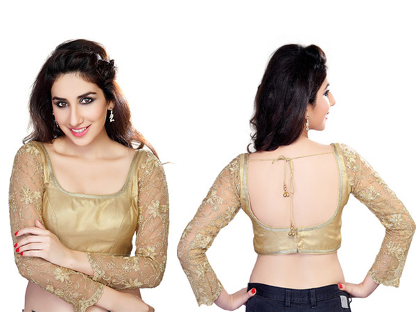 blouse design for net saree