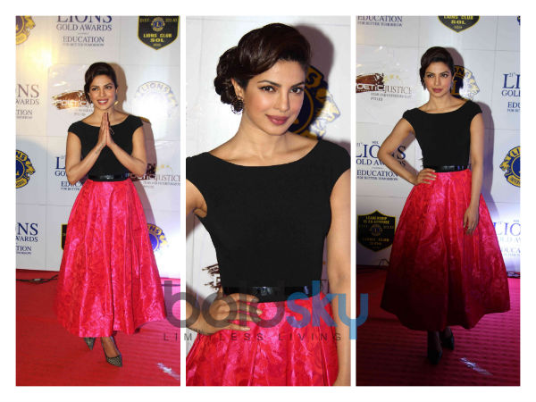 Priyanka Chopra Walks The Red Carpet In Theia