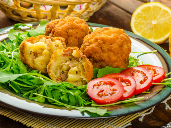 Macaroni & Corn Cheese Balls Recipe