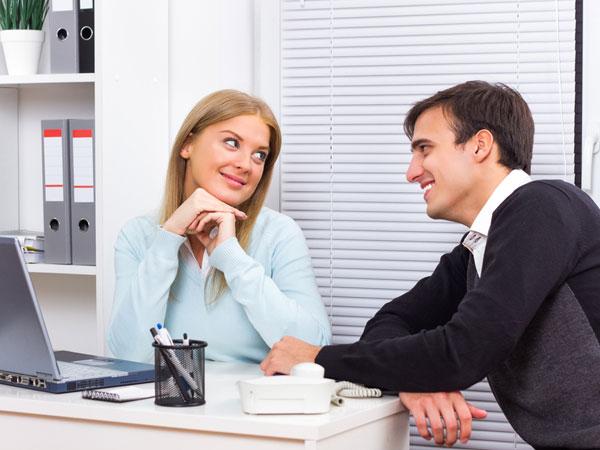 how to flirt office girl
