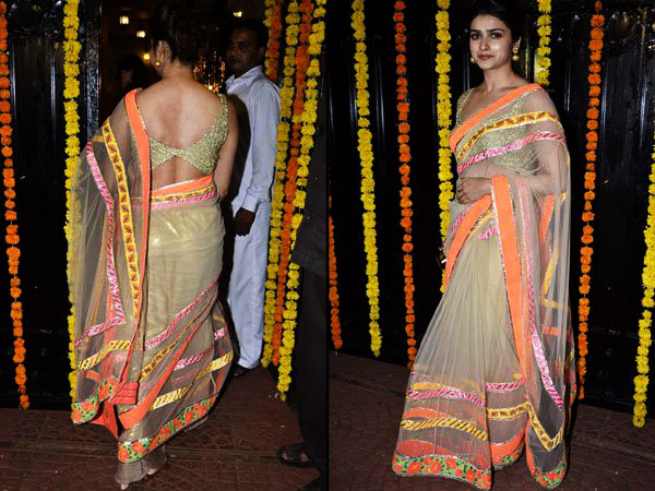 10 Hot Backless Saree Cholis On Bollywood Celebrities