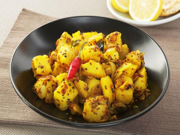 Sweet Corn Aloo Fry Recipe