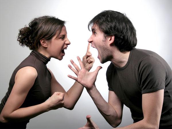 Rather grateful Black couple arguing point