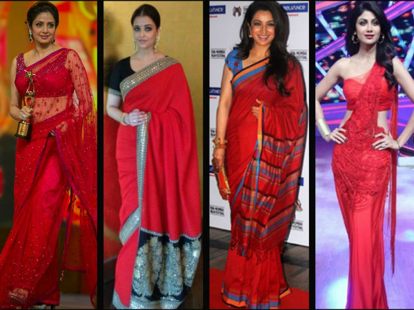 8 Sensuous Ways To Wear A Red Saree With Style Boldsky Com