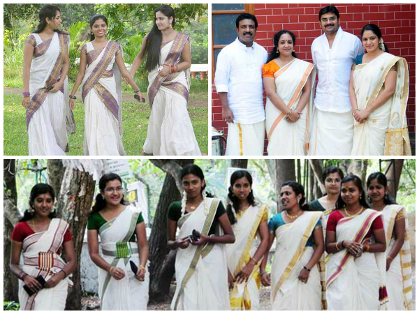 how to wear dhoti for onam
