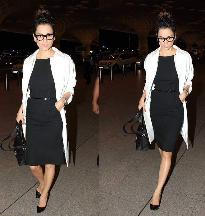 Kangana Ranaut's Airport Style Is Giving Us Fashion Tips For Business Trips
