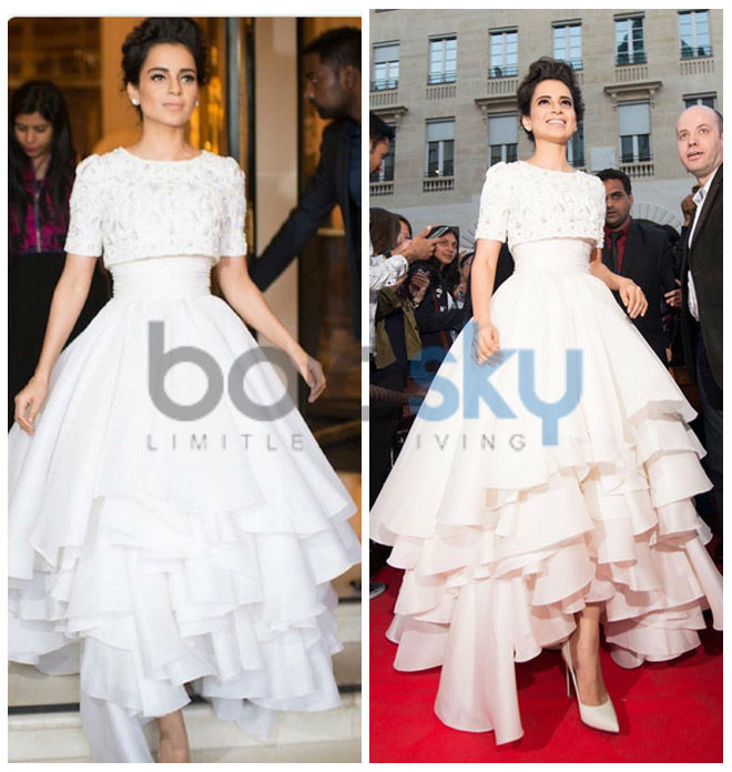 Kangana Ranaut Looks Like A Princess In Ralph and Russo At Queen Paris Premiere