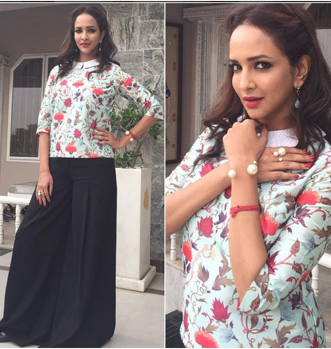 Lakshmi Manchu's Casual Day Look In Floral Print
