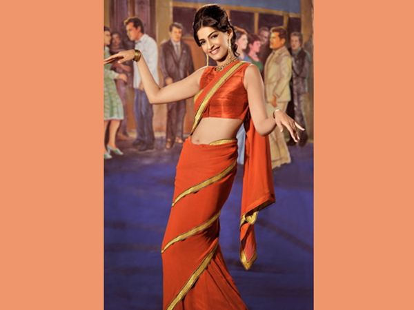 Mumtaz's Saree Look From Bramhachari