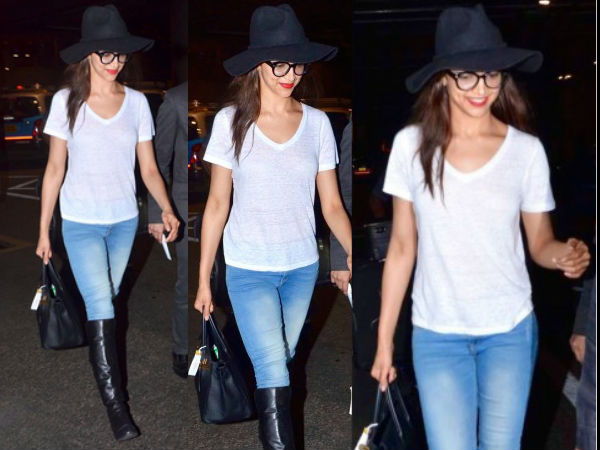 Deepika In Shades Of Blue & White