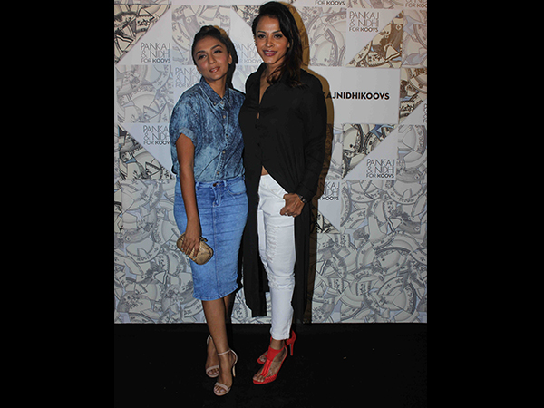 Shveta Salve In Denim Shirt And Pencil Skirt