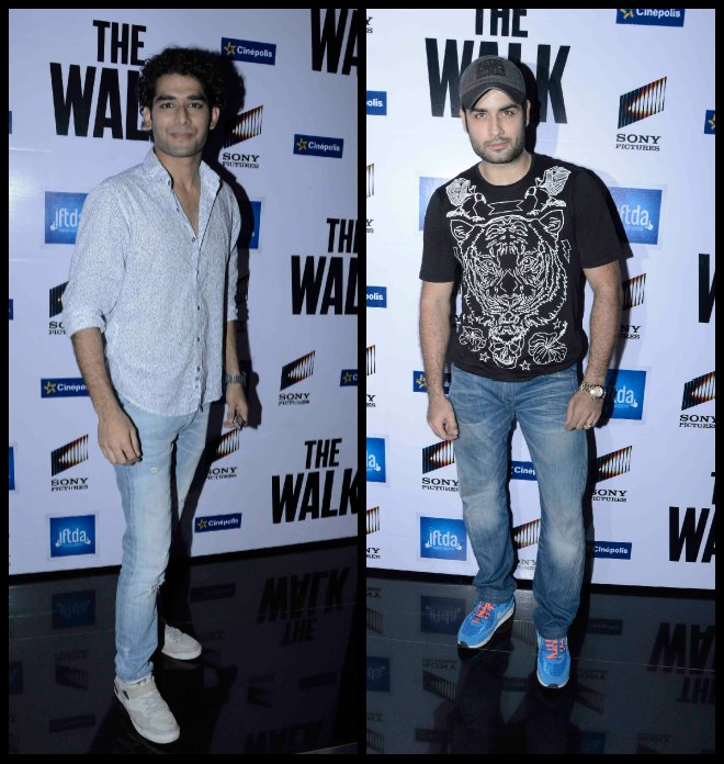 Vivian D'sena And Priyanshu Jora At Screening Of The Walk