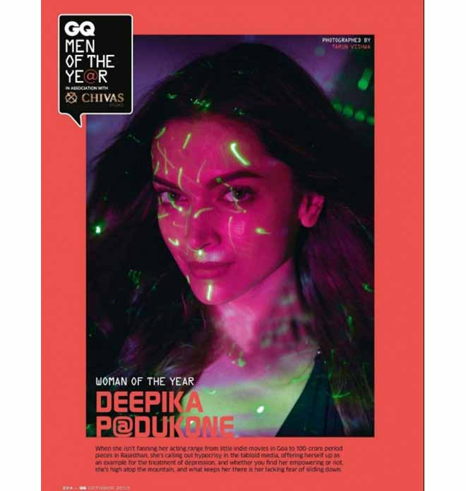 On The Face Of GQ: Deepika Padukone