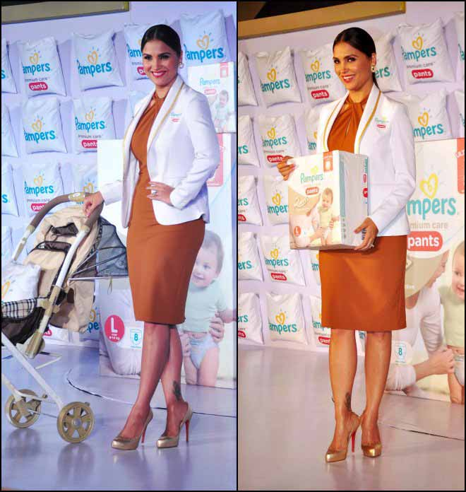 Lara Dutta At A Launch Event Donning Zara Dress