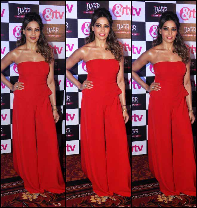 Bipasha Basu In Red At A Launch Of TV Serial