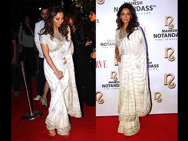 We Cannot Help But Look At Gauri Khan In Gorgeous White Saree