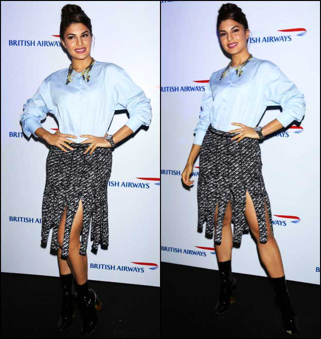 Jacqueline Fernandez At The Launch Of British Airways First 787-9 Flight To New Delhi