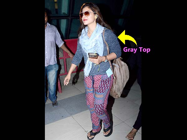 Kajol In Tribal Print While Returning From Dilwale Shoot