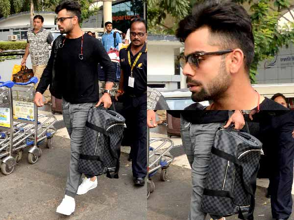 Look who we've got here: Virat Kohli. We snapped Virat at the Mumbai airport and it was great to see his well kept wardrobe.