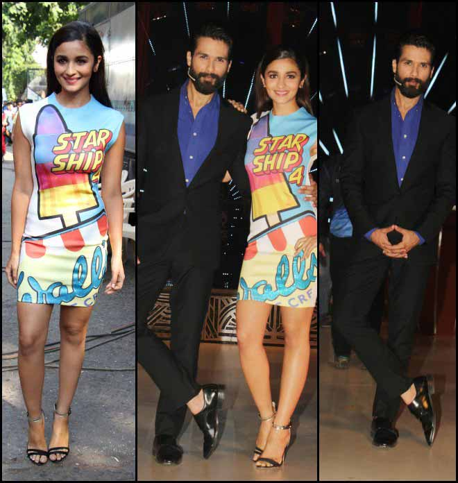 Alia Bhatt And Shahid Kapoor At The Jhalak Dikhhla Jaa Finale