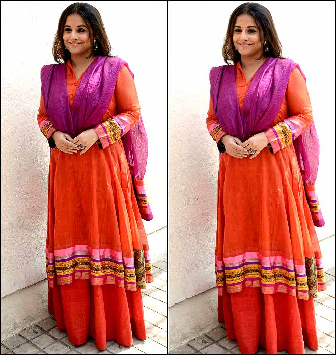 Spotted: Vidya Balan Wearing A Punjabi Suit At MAMI