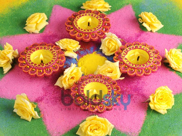 Decorating Home With Diyas