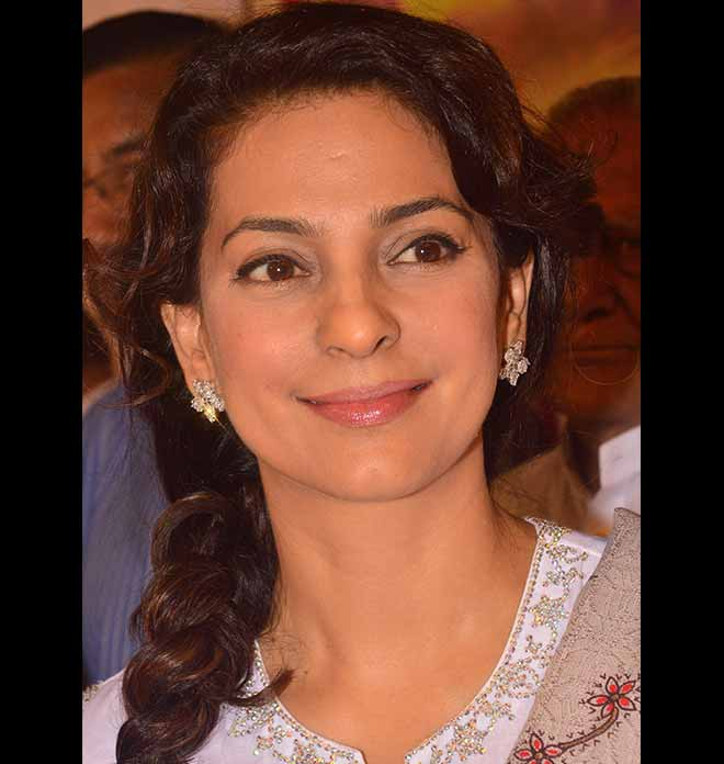 Juhi Chawla In Sheer White Kurta