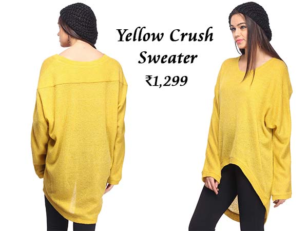 Yellow over-sized sweater