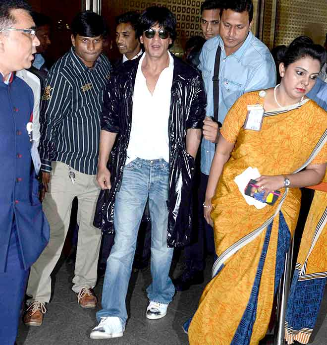 SRK returned from London