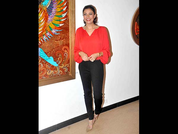 Sushmita Sen's Hot Red Top