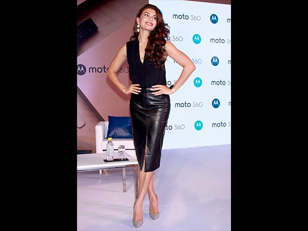 Jacqueline at the launch of moto watch