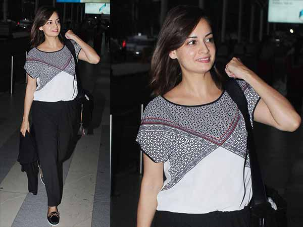 Dia Mirza's airport look- Rocking in a jumpsuit