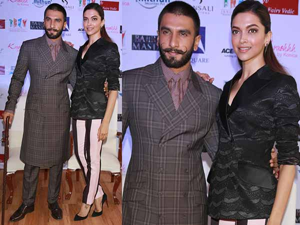 Deepika and Ranveer outfits at Bajirao Mastani promotions