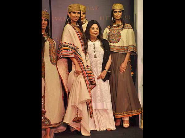Ritu Kumar With The Models