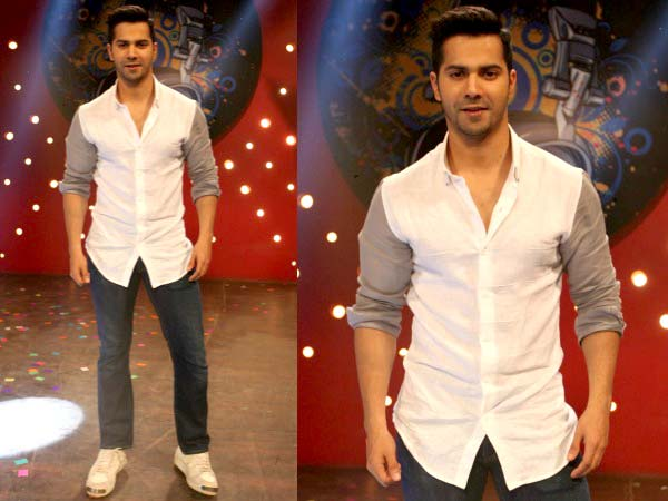 Varun Dhawan looking dapper in white shirt