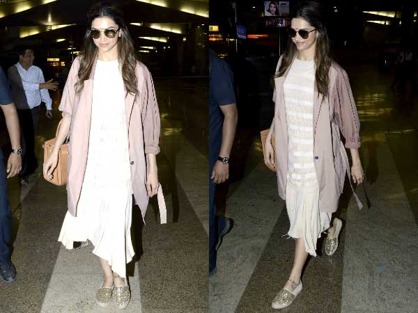 Deepika at the airport