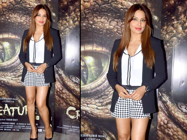 Bipasha in a printed short