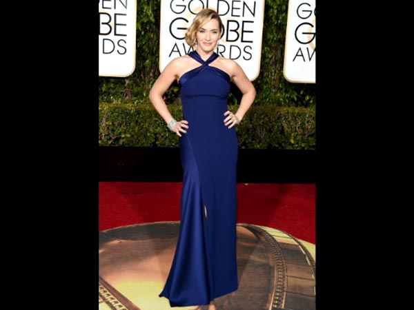 Kate Winslet In Blue Gown